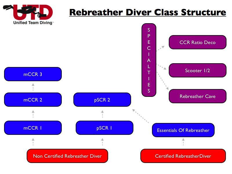 Estructura de cursos Rebreather